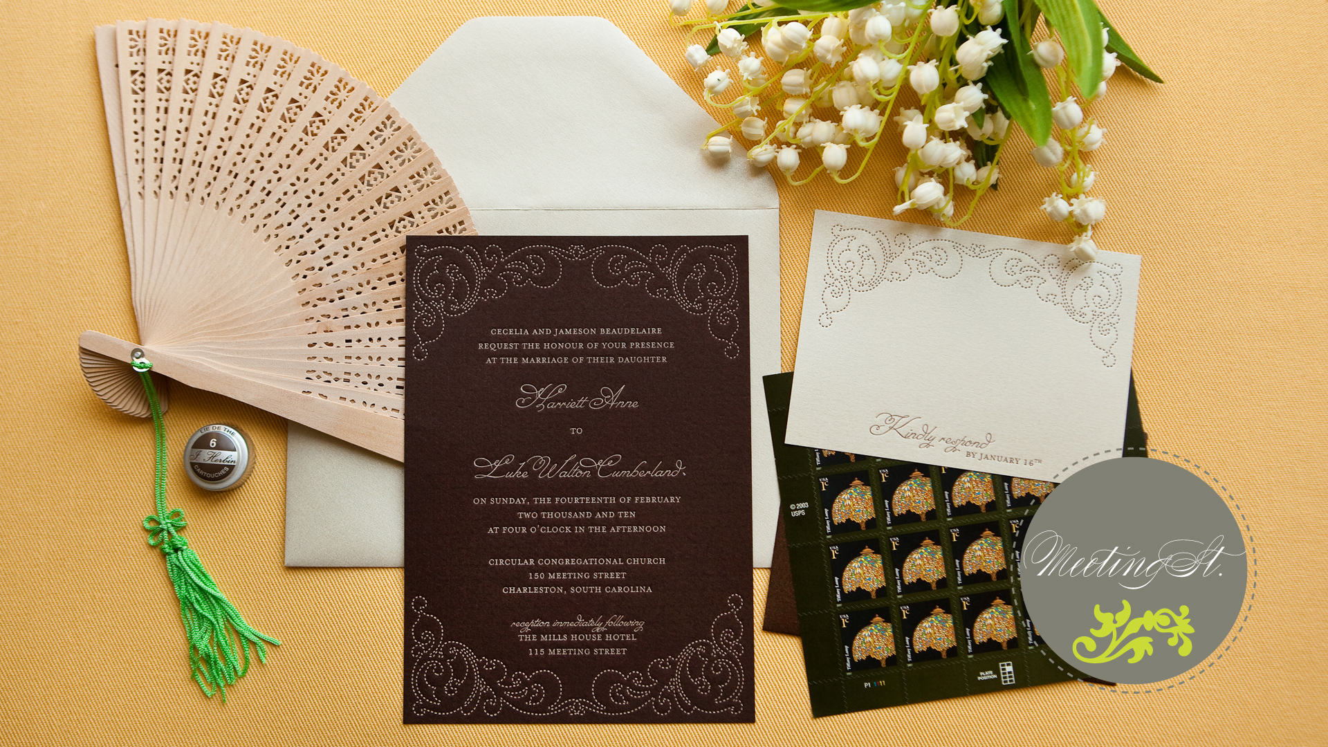 40 Unique Wedding Invitation Designs - DzineBlog.com