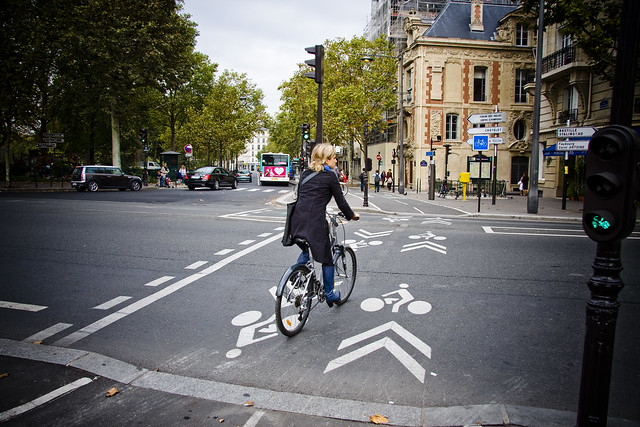 Paris Cycle Chic - Blue Boots