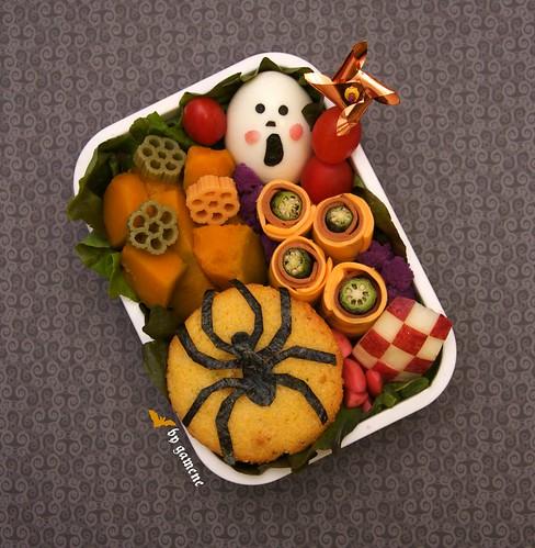spider muffin bento