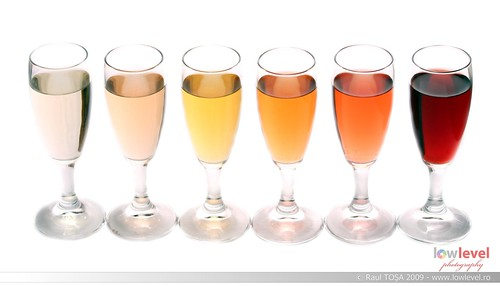 Six glasses of wine