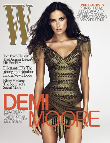 "Demi Moore gets the Ralph Lauren treatment in December ""W"" - 無料写真検索fotoq"