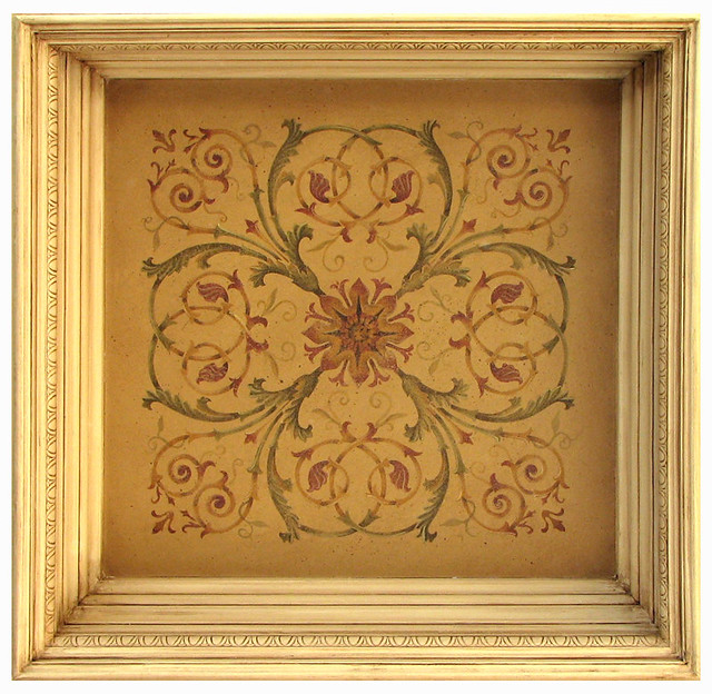 Coffer Ceiling Stencil Beautiful wall stencils by Cutting