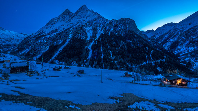 Evening in La Forclaz, Switzerland
