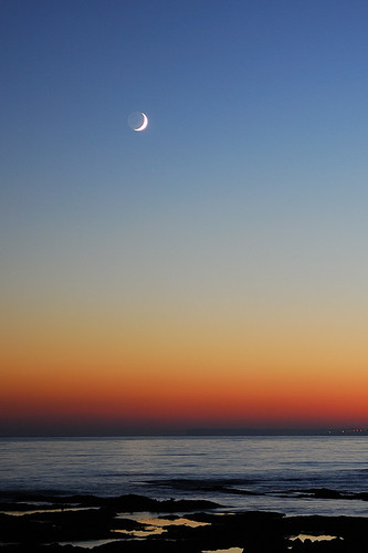 The Moon just after sunset by G Davidson