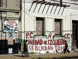 Communist Signage and Graffiti - La Boca - Buenos Aires
