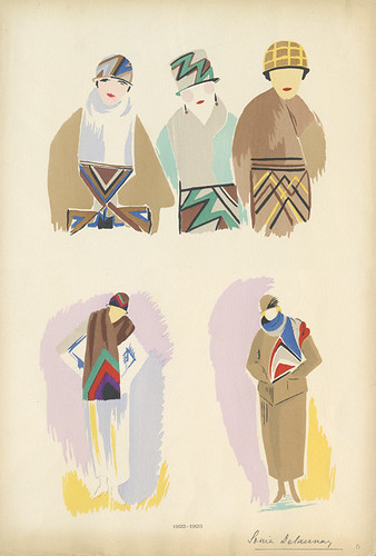 Sonia Delaunay Fashion Illustration