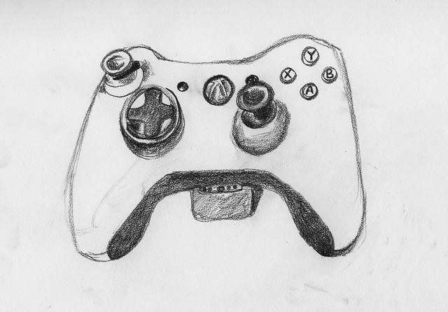 D Line Drawings Xbox One : Xbox controller sketch flickr photo sharing