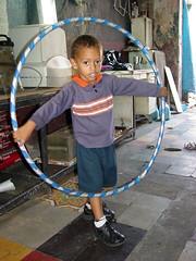 Young Boy with Hoop - Santo Domingo - Dominican Republic
