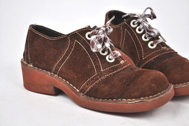 60s suede platform shoes flickr photo