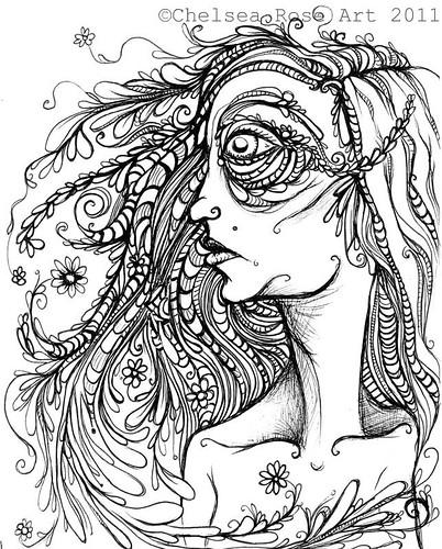 Chelsea rose fine art october 2009 for Fine art coloring pages