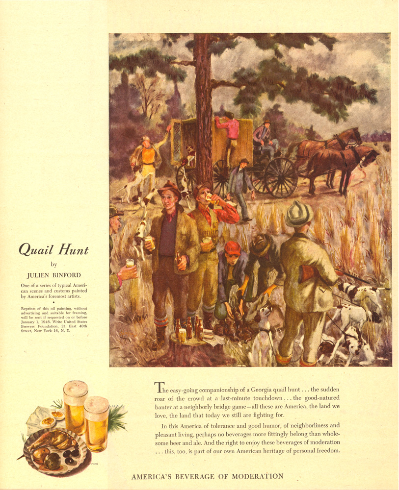 Quail Hunt by Julien Binford, 1945