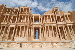 Front row seat at the theatre (Sabratha)