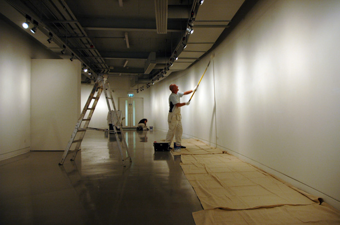 Painting the gallery