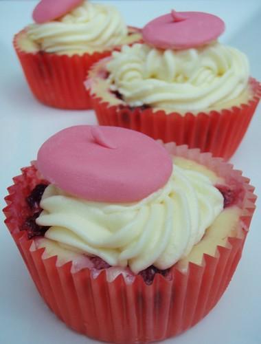 Raspberry Beret Cupcakes