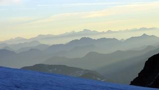 Morgenstimmung von Bernina aus Ortler