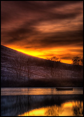 Winter Sunset on Glenbuck Reservoir