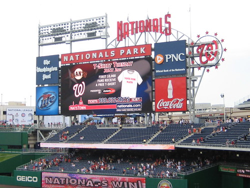 The In-Game Scoreboard at Nationals Park — Washington, DC, March 24, 2009
