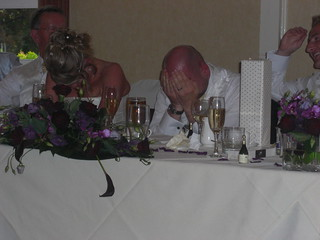 Groom's reaction to Best Man's speech
