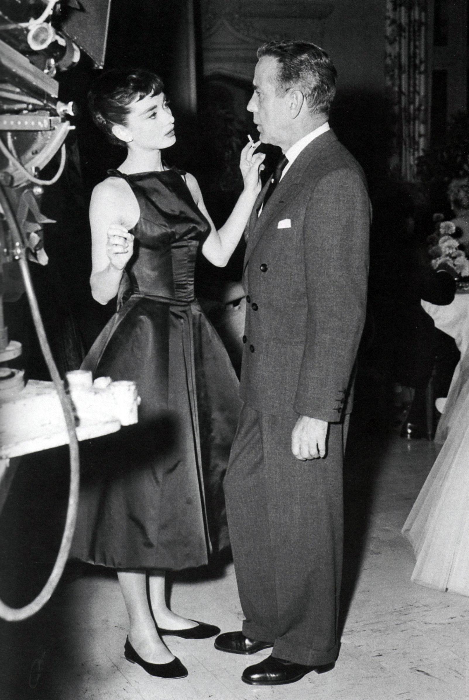 audrey hepburn and humphrey bogart quotsabrinaquot 1953