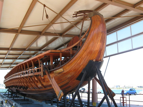 The trireme Olympias, stern