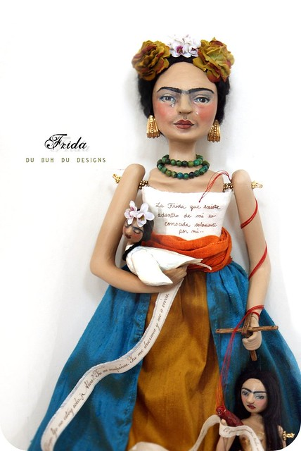 Frida inspired Art Doll