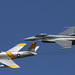 Old and New (F-86F Sabre and GD F-16C Falcon) by kentsmith9