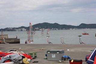 2009 Tasar World Championship boats leaving marina