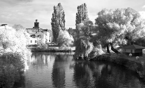 trees reflection digital river infrared norrköping östergötland motalaström canonefs1785mmf456isusm johanklovsjö