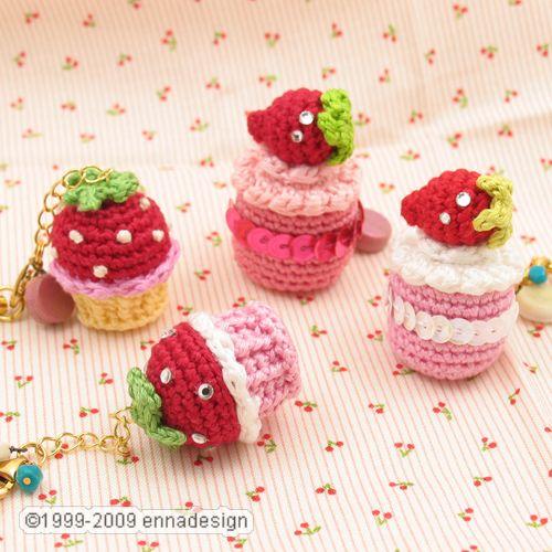 Amigurumi Cupcake Keychain : Miniature Amigurumi Cake Flickr - Photo Sharing!