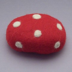 Polka Dot Felted Soap