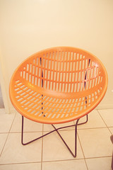 orange, outdoor furniture, furniture, circle, chair,