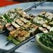 tofu kebabs with cilantro sauce by monika dabrowski