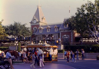 Train Station, Main Street, U.S.A., Disneyland, 1979