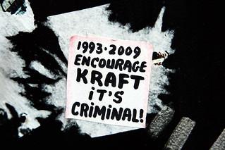 Kraft is criminal