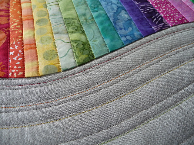 Rainbow Mini Quilt- detail