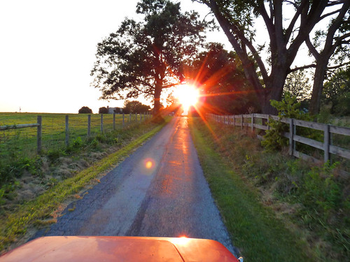 Sunset on the Country Road