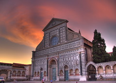 Sunset over Plaza S. Maria Novella