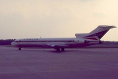 airline, boeing 727, aviation, airliner, airplane, wing, vehicle, jet aircraft,