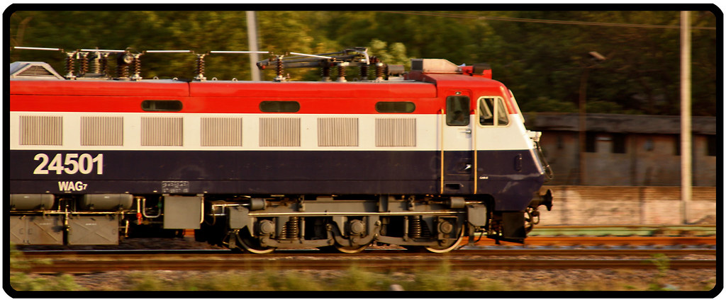 Tiger face WAG 7 in the BHEL WAP 4 shell