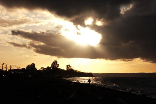 ocean seattle city cruise light sunset beach nature clouds dark landscape lights evening washington twilight nikon scenery waves ship pacific needle sound alki planet wa late spaceneedle pugetsound observationdeck 18200mm nikond40x yenumula worldofarun arunyenumula