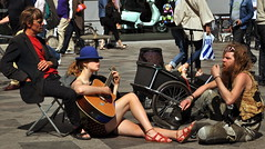 Buskers take a break