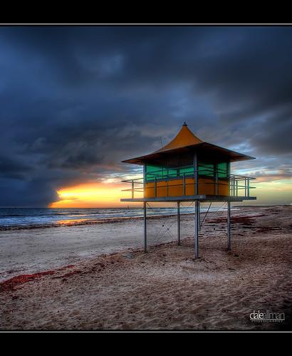 ocean sunset sky tower beach nature water clouds sand surf waves australia adelaide southaustralia glenelg hdr 1740 lifesaver 3xp photomatix auselite perfectescapes canon5dmkii