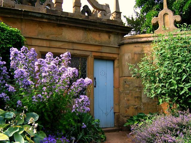 Summer Garden Scene at Hardwick Hall in Derbyshire