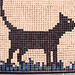 le chat, regard vers la droite > with ALEA Mosaic tiles