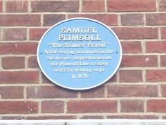 Photo of Samuel Plimsoll blue plaque