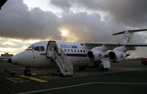2034 BAe 146-200 G-DEBD Debonair Luton Airport