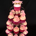Christening Cupcake tower with bear