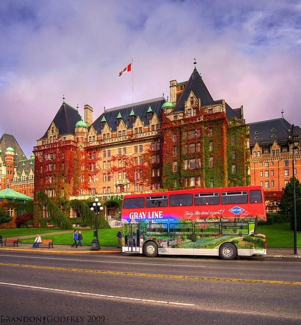 The Empress Hotel: Vertical Pano HDR