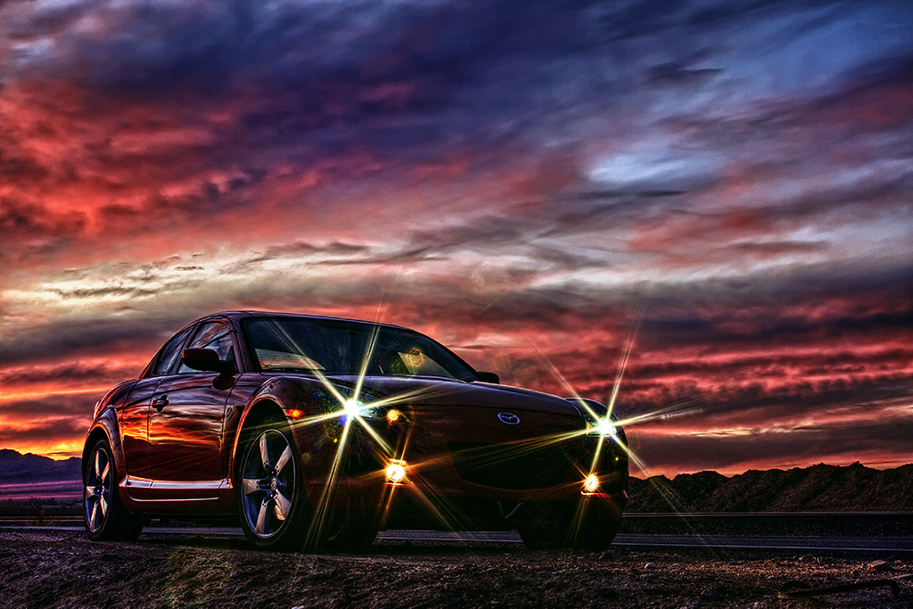 RX8 Sunset Headlights in HDR