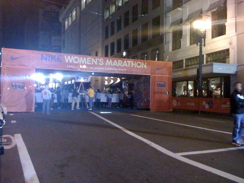 At the Nike Women's Marathon